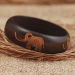 Tribal Wooden Carved Bracelet B043