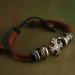 Ethnic Tribal Leather Bracelet L002