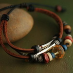 Ethnic Tribal Leather Bracelet L032