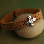 Surf Jewelry Leather Bracelet L050