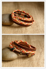 Ethnic Tribal Leather Surfer Bracelet LB002