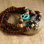 Ethnic Tribal Leather Surfer Bracelet LB003