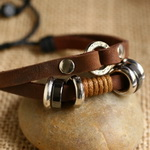 Ethnic Tribal Leather Surfer Bracelet LB005