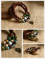 Ethnic Tribal Leather Surfer Bracelet LB007