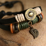 Ethnic Tribal Leather Surfer Bracelet LB008