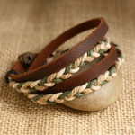 Ethnic Tribal Leather Surfer Bracelet LB009