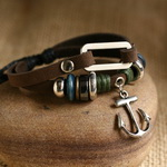 Ethnic Tribal Leather Surfer Bracelet LB010