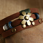 Ethnic Tribal Leather Surfer Bracelet LB012