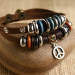 Ethnic Tribal Leather Surfer Bracelet LB014