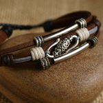 Ethnic Tribal Leather Surfer Bracelet LB015