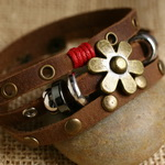 Ethnic Tribal Leather Surfer Bracelet LB016