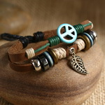 Ethnic Tribal Leather Surfer Bracelet LB018