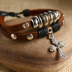 Ethnic Tribal Leather Surfer Bracelet LB020