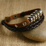 Ethnic Tribal Leather Surfer Bracelet LB024