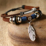 Ethnic Tribal Leather Surfer Bracelet LB025