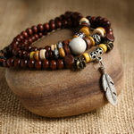 Ethnic Tribal Leather Surfer Bracelet LB026