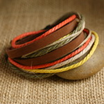 Ethnic Tribal Leather Surfer Bracelet LB029