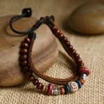 Ethnic Tribal Leather Surfer Bracelet LB032