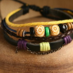 Ethnic Tribal Leather Surfer Bracelet LB035