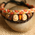 Ethnic Tribal Leather Surfer Bracelet LB037