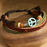 Ethnic Tribal Leather Surfer Bracelet LB039
