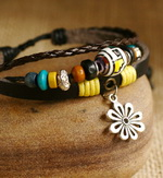 Ethnic Tribal Leather Surfer Bracelet LB041