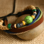 Ethnic Tribal Leather Surfer Bracelet LB042