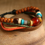 Ethnic Tribal Leather Surfer Bracelet LB044