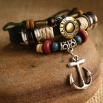 Ethnic Tribal Leather Surfer Bracelet LB045