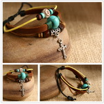 Ethnic Tribal Leather Surfer Bracelet LB046