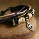 Ethnic Tribal Leather Surfer Bracelet LB048