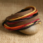 Ethnic Tribal Leather Surfer Bracelet LB051