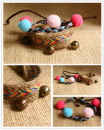 Ethnic Tribal Leather Surfer Bracelet LB078