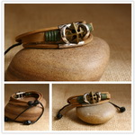 Ethnic Tribal Leather Surfer Bracelet LB080