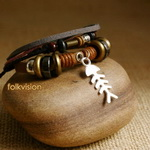 Ethnic Tribal Leather Surfer Bracelet LB082