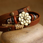 Ethnic Tribal Leather Surfer Bracelet LB083