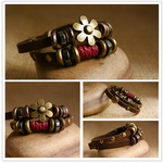 Ethnic Tribal Leather Surfer Bracelet LB084