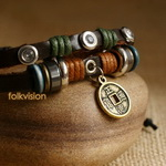 Ethnic Tribal Leather Surfer Bracelet LB085
