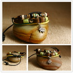 Ethnic Tribal Leather Surfer Bracelet LB087