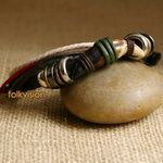Ethnic Tribal Leather Surfer Bracelet LB088