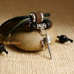 Ethnic Tribal Leather Surfer Bracelet LB089