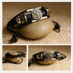 Ethnic Tribal Leather Surfer Bracelet LB090