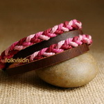 Ethnic Tribal Leather Surfer Bracelet LB091