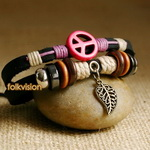 Ethnic Tribal Leather Surfer Bracelet LB092