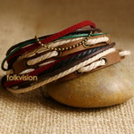 Ethnic Tribal Leather Surfer Bracelet LB095