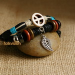 Ethnic Tribal Leather Surfer Bracelet LB096