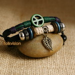 Ethnic Tribal Leather Surfer Bracelet LB097