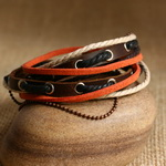 Ethnic Tribal Leather Surfer Bracelet LB109