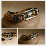Ethnic Tribal Leather Surfer Bracelet LB113
