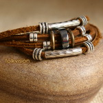 Ethnic Tribal Leather Surfer Bracelet LB119